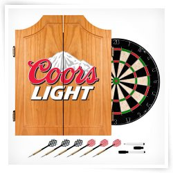 Coors Light Bristle Dart Board with Cabinet