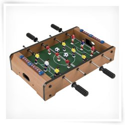 Trademark Games Mini Table Top Turbo Foosball with Accessories