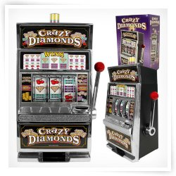 Trademark Crazy Diamonds Slot Machine Bank with 100 Tokens