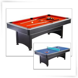 Hathaway Pool Table with Table Tennis-7 ft.